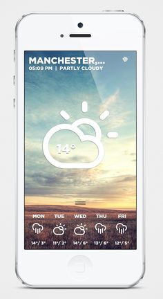 Morning Rain - iOS Weather App by Roberto Nickson, via Behance