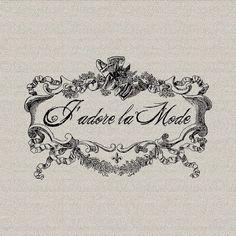 Francés de la escritura me amor moda francesa por DigitalThings