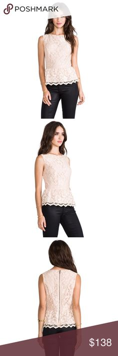 MICHAEL STARS CHAMPAGNE LACE PEPLUM TOP ♡ 100% AUTHENTIC ♡ BRAND NEW WITH TAGS (NWT) ♡ NO DEFECTS + DAMAGES ♡ SIZE MEDIUM (SEE SIZE CHARTS FOR REFERENCE) ♡ COLOR: CHAMPAGNE 🥂✨ ♡ SCALLOPED HEM ♡ CENTER BACK ZIPPER CLOSURE ♡ SELF: 68% NYLON, 32% RAYON ♡ CONTRAST: 100% POLY ♡ NO TRADES Michael Stars Tops Blouses