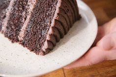 This classic chocolate cake from PBS Food is dark and delicious.