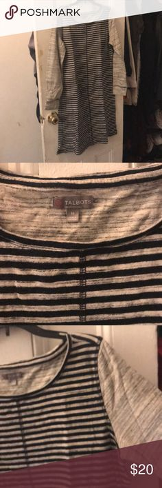 Long sleeve & extremely comfortable striped dress In excellent condition, lined. Talbots Dresses