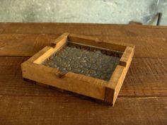 Wooden ashtray hanmade walnut