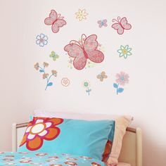 Nice Our Pretty Butterfly Garden Printed Vinyl Wall Decals Will Brighten Up Any  Room With Their Intricate