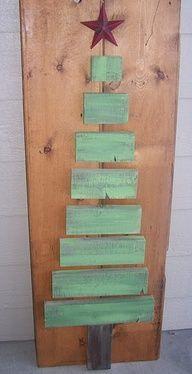 old fence board xmas tree -- easy!