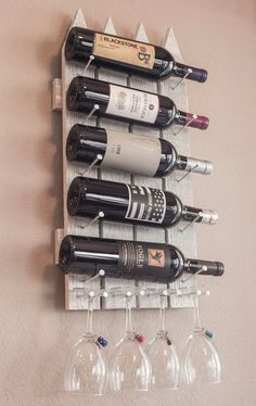 22 Diy Wine Rack Ideas, offer a unique touch to your home – Diy & Decor Selections 22 Diy Weinregal Vin Palette, Wood Wall Wine Rack, Cool Wine Racks, Dyi Wine Rack, Pallet Wine Rack Diy, Unique Wine Racks, Rustic Wine Racks, Wine Rack Design, Regal Design