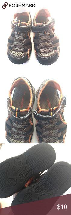 Carter's shoes Brown Orange Velcro strap sandals excellent shoes Carter's Shoes Sandals & Flip Flops