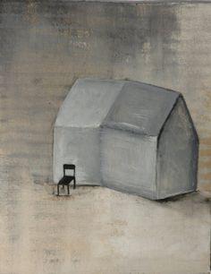 Art:petite peinture originale sur carton brut.