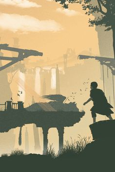 "theomeganerd: ""Life is Strange // Journey // The Last Guardian Artworks by Felix Tindall """