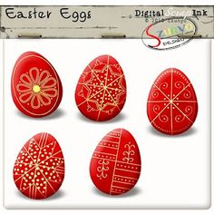 Some traditional Hungarian Easter egg designs from a scrap-booking site.  These are Transylvanian designs.