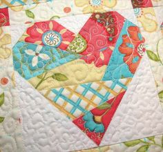 Glad of Heart Table Runner Quilting Detail by Such a Sew and Sew, via Flickr