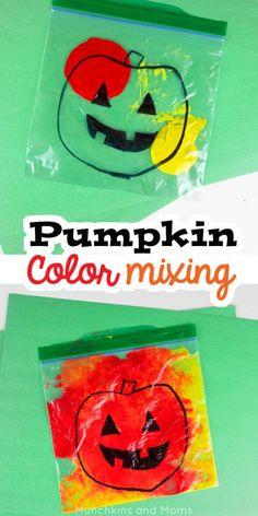 Pumpkin Color Mixing Activity