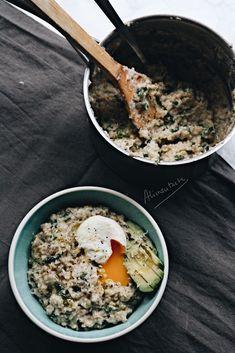 Gachas de avena saladas - Savoury oatmeal porridge - Alimentarte