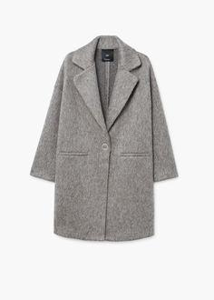 Unstructured mohair-blend coat | MANGO