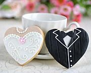 Heart Shaped Dress and Tux Cookies ~ TOnew