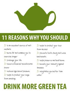 11 Reasons why you should drink green tea!!!!