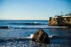 Cold, cold water at Steamer Lane