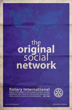 Rotary, the original Social Network