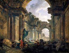 Hubert Robert : Le Louvre a ciel ouvert, monde parallèle