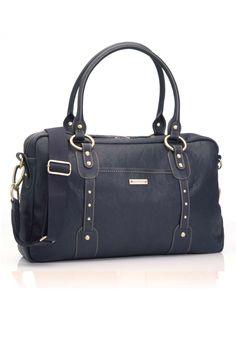 3c51aa785 Storksak Elizabeth Diaper Bag - Navy (SALE) Price  289.00 Leather Diaper  Bags