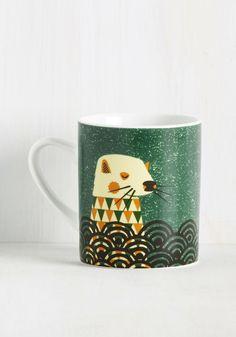 Wild the Gettin's Good Mug in Otter, #ModCloth