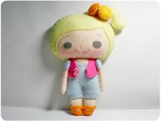 Vicky Girl - Doll Pattern, Felt Doll