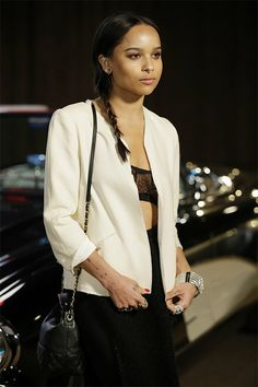 US Fashion Chanel Zoe Kravitz