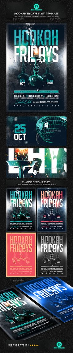 Hookah Night  Free Psd Flyer Template  Psd Flyers
