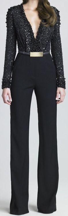 bef5b00eced Elie Saab Black Jumpsuit Outfit Night