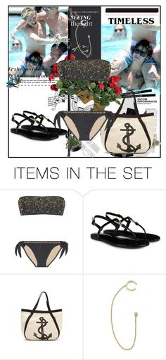 """""""in the pool with Niall and Harry"""" by ammy-horan-98 ❤ liked on Polyvore featuring art"""