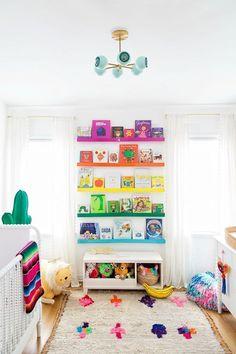 Arlo's Nursery Reveal – Studio DIY Arlo's Rainbow Nursery Reveal Bright Nursery, Baby Nursery Diy, Baby Room Decor, Nursery Room, Baby Room Diy, Safari Nursery, Elephant Nursery, Diy Baby, Rainbow Bedroom