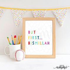 """Islamic Nursery Wall Art, Boy,Girl, digital download 8 x 10"""" by madebyummi on Etsy"""