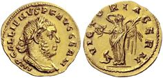 Roman Empire Aureus ND  Gallienus, joint reign with Valerian I 253-60AD