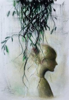 """Ivy"" softpastel drawing 42 x 29 cm ©"
