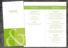 Menükarten: Namen in grün Din Lang, Save The Date Karten, Bar Chart, Etsy, Cup Art, Card Templates, Crafting, Invitation Cards, Names