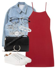 """""""Untitled #5298"""" by angela379 ❤ liked on Polyvore featuring Reformation, Ray-Ban, MANGO, Chloé and Kendra Scott"""