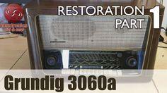 Grundig 3060a tube radio restoration - Part 1. First look and ... we hav...