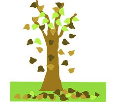 Tree With Leaves Falling Clip Art Autumn Trees, Autumn Leaves, Cartoon Trees, Trees To Plant, Online Art, Graphic Art, Vector Free, Clip Art, Drawings