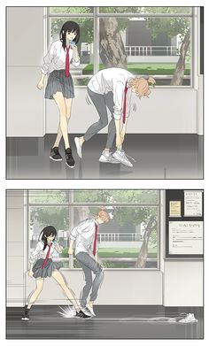 Read Tamen De Gushi Chapter 200 - The funny romantic story of how Qiu Tong and Sun Jing met and fell in love. Also contains insert art of the characters by the mangaka. Couple Anime Manga, Anime Love Couple, Chica Anime Manga, Otaku Anime, Anime Guys, Art Manga, Anime Art Girl, Cute Comics, Funny Comics