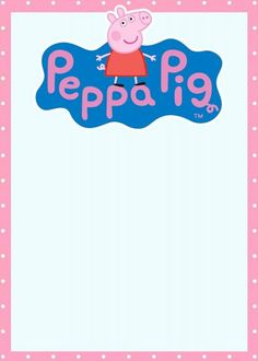 Peppa Pig Invitation Template New Incredible Peppa Pig Invitation Templates Free and Printable Peppa Pig Peppa Pig Birthday Invitations, 1st Birthday Invitation Template, Birthday Invitation Message, Christmas Party Invitation Template, Dinner Invitation Template, Printable Invitation Templates, Free Printable, 2nd Birthday Party Themes, Third Birthday