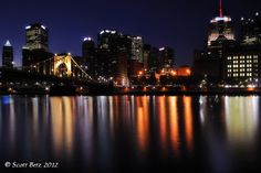 Slight rework - Pittsburgh Post on Night Shot, My Images, Pittsburgh, New York Skyline