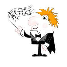 'Cartoon Conductor' by imagology Framed Prints, Canvas Prints, Art Prints, Conductors, Art Boards, Pikachu, Duvet Covers, Musicals, Disney Characters