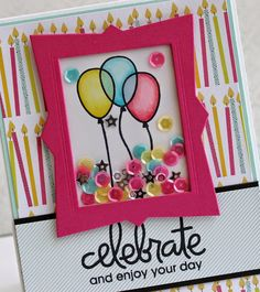 Birthday Bash Shaker Card