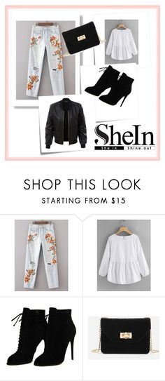 """SHEIN I"" by lugavicjasmina ❤ liked on Polyvore featuring Post-It, Tom Ford and LE3NO"