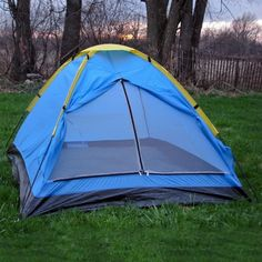 #2 #Person #Camping #Tent Carry Bag Rain Fly Vented Roof Screen Zippered Doors 3lbs  This 2 Person Camping Tent has a rain fly and vented roof with two durable metal tipped tent poles.  It weighs a mere 3 lbs and includes a carry bag.
