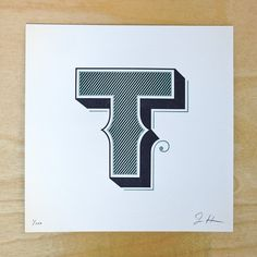 Jessica Hische - letter t prints