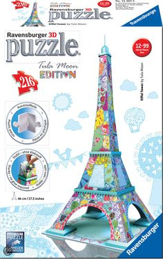 bol.com   Ravensburger Eiffeltoren Tula Moon - 3D puzzel   4005556125678   Boeken...