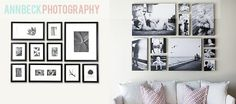 gether! A variety of images in different sizes, all either framed together or on canvas to give some consistency, and you can show off all y...