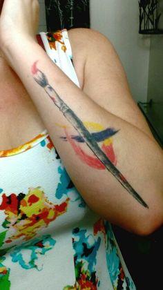 My paint brush tattoo