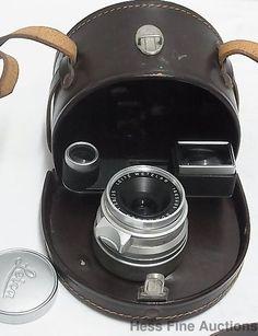 Leitz Wetzlar 1665605 Summaron 1:28/35 Vintage Leica Lens w Orig Leather Case #Leitz