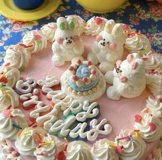 Pretty Birthday Cakes, Pretty Cakes, Cute Cakes, Yummy Cakes, Churros, Anime Cake, Pastel Cakes, Frog Cakes, Food Obsession